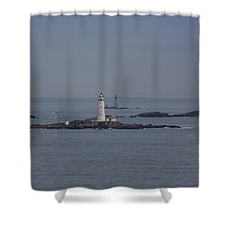 The Two Harbor Lighthouses Shower Curtain