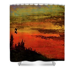 The Two Of Us Shower Curtain by R Kyllo