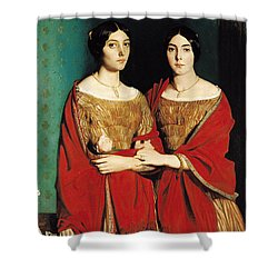 The Two Sisters Shower Curtain by Theodore Chasseriau