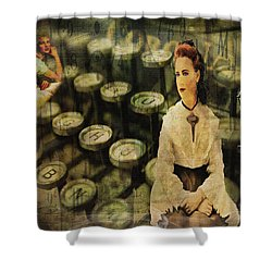 The Typist Shower Curtain