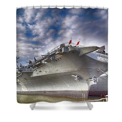 The U S S Intrepid  Shower Curtain