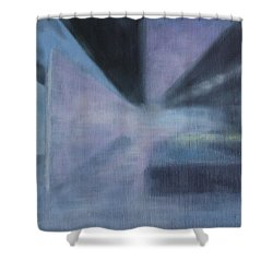Shower Curtain featuring the painting The Ultimate Art Is How To Be A Human by Min Zou