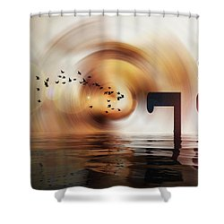 The Unexamined Life Is Not Worth Living Shower Curtain
