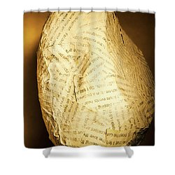 The Unfinished Story Shower Curtain