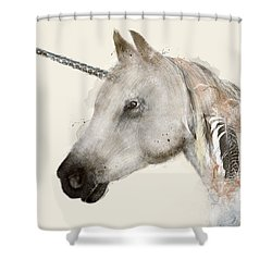 The Unicorn Shower Curtain by Bri B