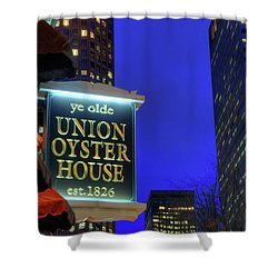 Shower Curtain featuring the photograph The Union Oyster House - Boston by Joann Vitali