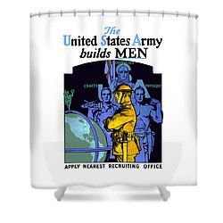 The United States Army Builds Men Shower Curtain by War Is Hell Store