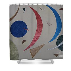 The Universe Shower Curtain by Barbara Yearty