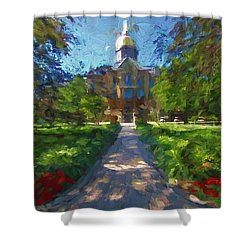 The University Of Notre Dame Shower Curtain
