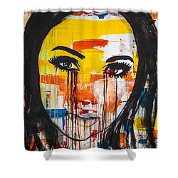 Shower Curtain featuring the painting The Unseen Emotions Of Her Innocence by Bruce Stanfield