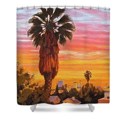 The Urban Jungle Shower Curtain