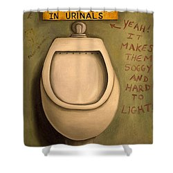 The Urinal Shower Curtain by Leah Saulnier The Painting Maniac