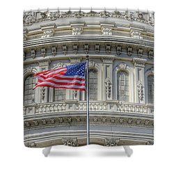 Shower Curtain featuring the photograph The Us Capitol Building - Washington D.c. by Marianna Mills