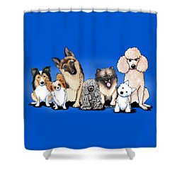 The Usual Suspects 3 Shower Curtain by Kim Niles