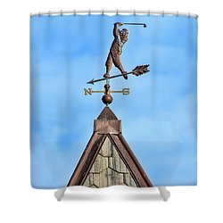 The Vane Golfer Shower Curtain by Gary Slawsky