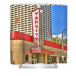 The Varsity Frontdoor Atlanta Georgia Landmark Art Shower Curtain