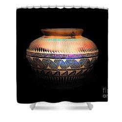 The Vase Of Joy Shower Curtain by Ray Shrewsberry