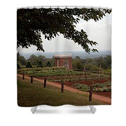 The Vegetable Garden At Monticello Shower Curtain