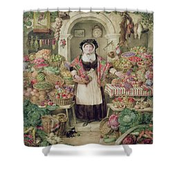 The Vegetable Stall  Shower Curtain by Thomas Frank Heaphy