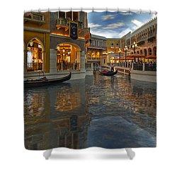 The Venetian Las Vegas Gondolas Shower Curtain