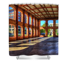 The Venue Old Mill Wedding Venue Reedy River South Caroline Art Shower Curtain by Reid Callaway