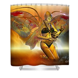 Shower Curtain featuring the digital art the VENUSIAN by Shadowlea Is