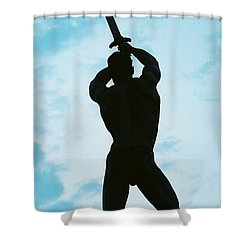 The Victor Shower Curtain by Jake Hartz