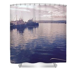 Stromness Harbour Shower Curtain by Charlotte Cooper