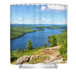 Shower Curtain featuring the photograph The View From Beech Mountain by John M Bailey