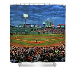 The View From Behind Home Plate - Fenway Park Shower Curtain