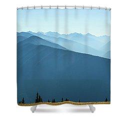 The View From Hurricane Ridge Shower Curtain