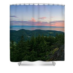 The View From Mt Erie Shower Curtain by Ken Stanback