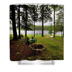 Shower Curtain featuring the photograph The View From Northern Comfort by David Patterson