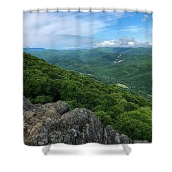 Shower Curtain featuring the photograph The View From Raven's Roost by Lori Coleman