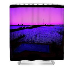 The Purple View  Shower Curtain