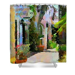 The Villa Shower Curtain