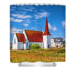 The Village Church Shower Curtain