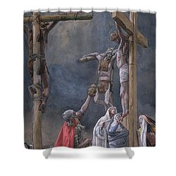 The Vinegar Given To Jesus Shower Curtain by Tissot