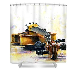 The Violin Shower Curtain by John D Benson