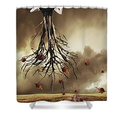 The Violin Player Shower Curtain