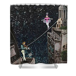 The Violinist And The Dancer Shower Curtain