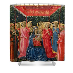The Virgin And Child With Angels Shower Curtain by Fra Angelico