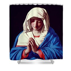 The Virgin In Prayer Shower Curtain by Il Sassoferrato