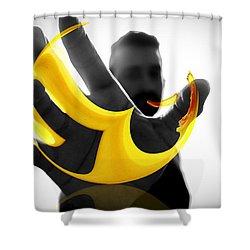 The Virtual Reality Banana Shower Curtain