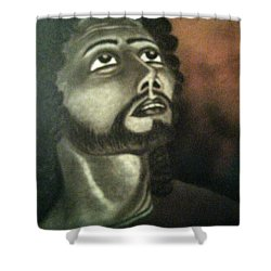 The Vision Of St. Christopher Shower Curtain