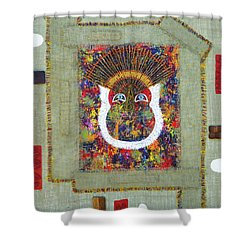 The Vision Two Shower Curtain by Roshanda Prior