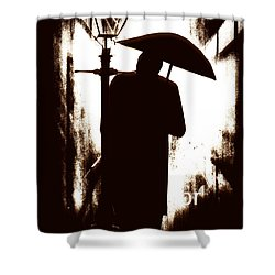 Shower Curtain featuring the digital art The Visitor  by Fine Art By Andrew David