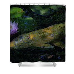 Shower Curtain featuring the photograph The Visitor by David Coblitz