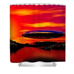The Visitor Shower Curtain by David Lane