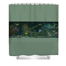 The Visitor Shower Curtain by Dawn Fairies